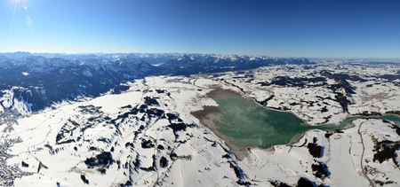 Panoramaaufnahme Lech und Forggensee